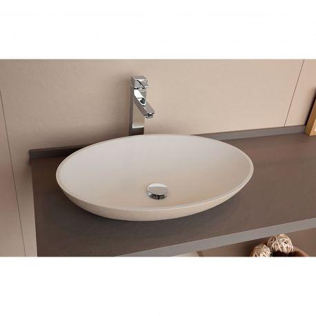 lavabo resina sobre encimera acquabella ontop oval
