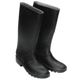 Botas goma altas negras -...