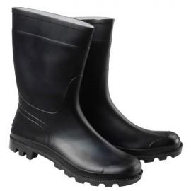Botas goma bajas negras -...