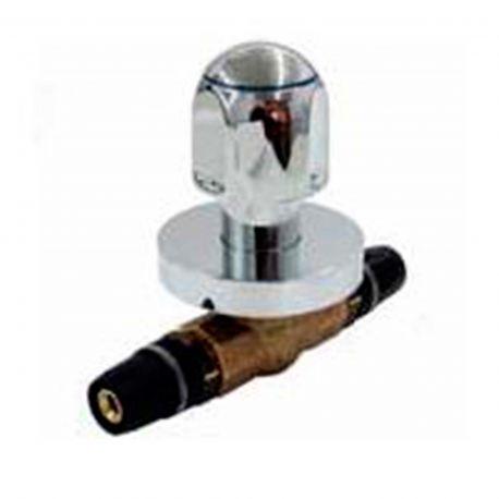 Llave esfera empotrar MT c/pomo 20x20 cromo - 8780020