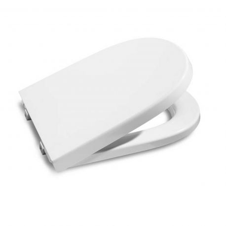 Asiento inodoro c amort roca meridian compacto blanco for Inodoro meridian compacto