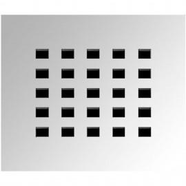 Rejilla acero inoxidable CLASIC 130x130 mm.