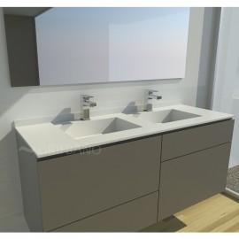 Lavabo resina VERSUS 2-SENOS sin faldón