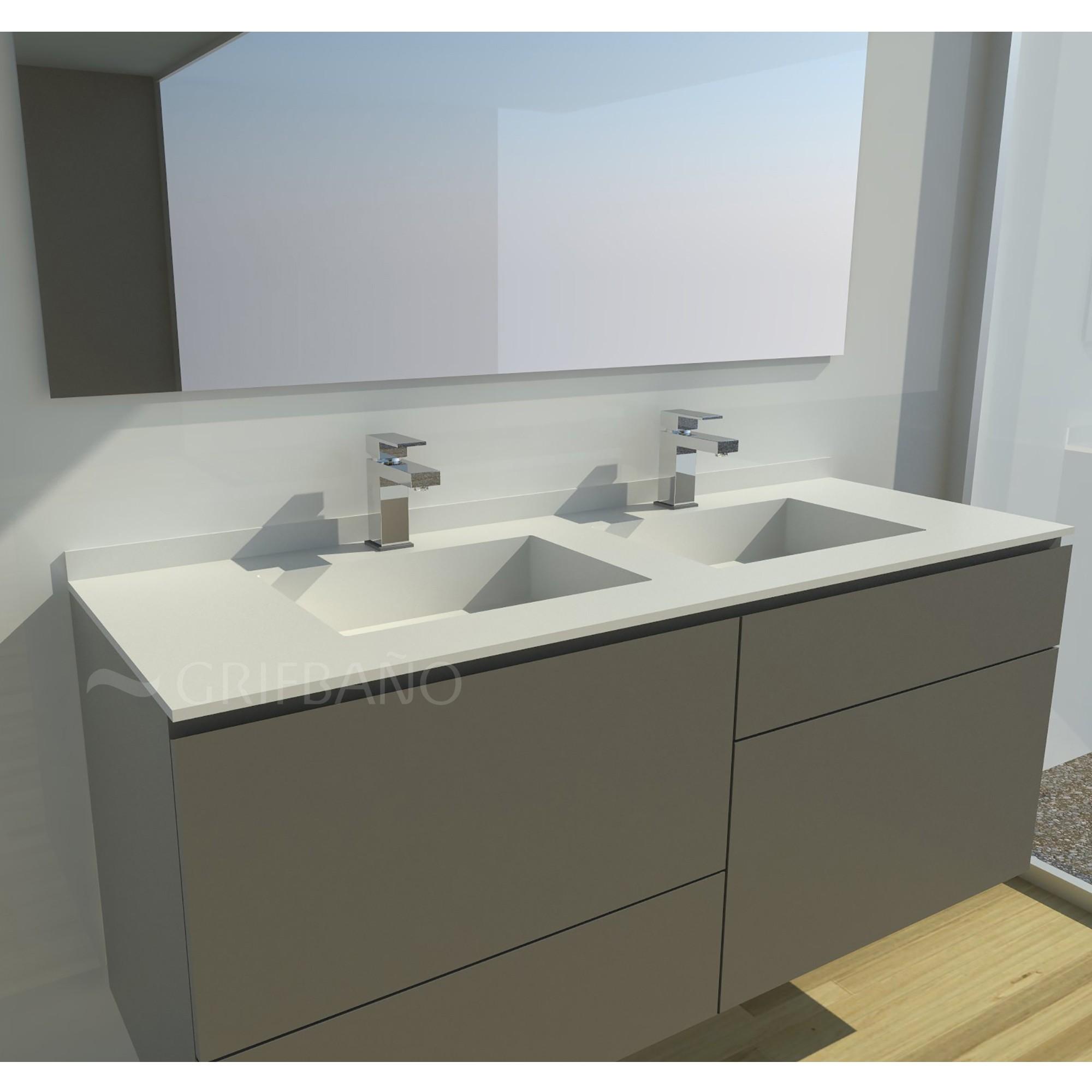 Encimeras de resina lavabo sobre encimera redondo de for Lavabo cocina