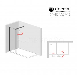Mampara ducha CHICAGO frontal