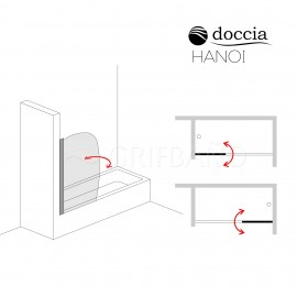 Mampara baño HANOI 1-Hoja