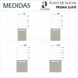 Plato ducha resina Acquabella PRISMA SLATE