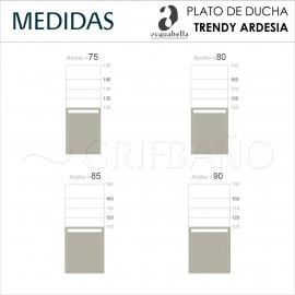 Plato ducha resina Acquabella TRENDY ARDESIA