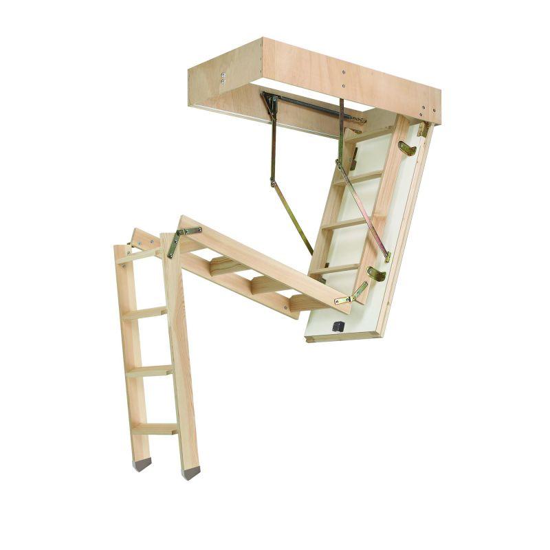 Escalera escamoteable de tramos c3t iso madera maydisa for Escalera escamoteable