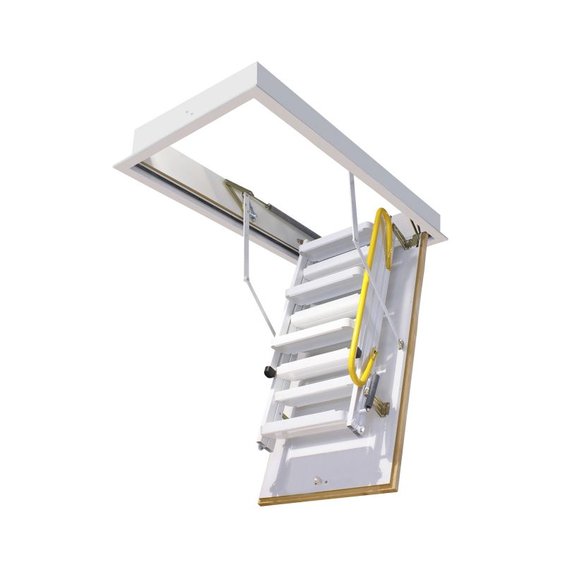 Escalera escamoteable de tramos 3m 3 iso met lica lacada for Escalera escamoteable