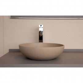Lavabo resina sobre encimera Acquabella ON-TOP CIRCLE