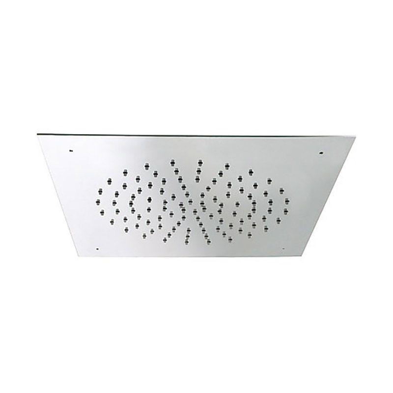 Rociador ducha a techo tres inox 380x380 mm cromo for Rociadores ducha empotrados techo