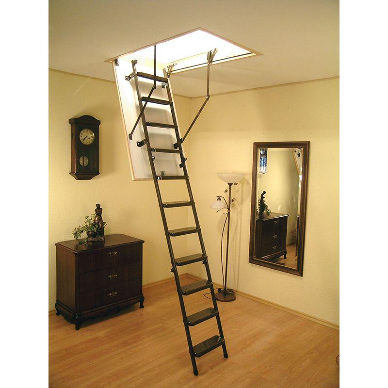 Escalera escamoteable de tramos met lica lms smart fakro for Escalera escamoteable