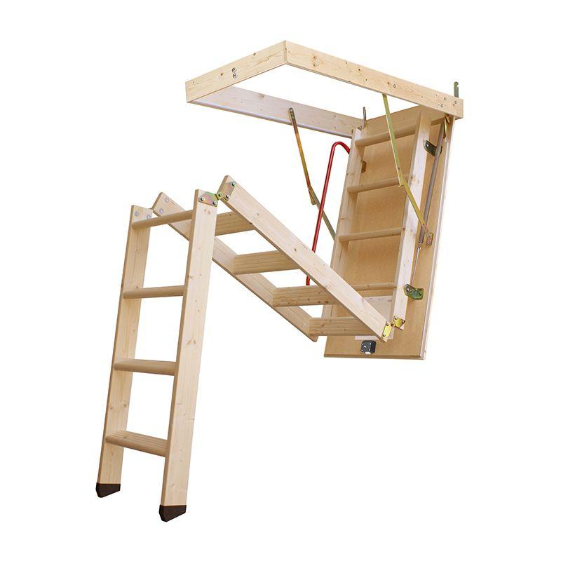 Escalera escamoteable de tramos lc 3 iso madera maydisa for Escalera madera 2 tramos