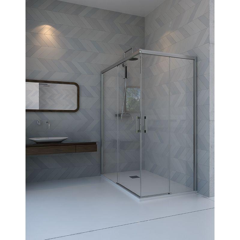 Mampara ducha iguaz angular anna bagno doccia - Mampara de ducha segunda mano ...