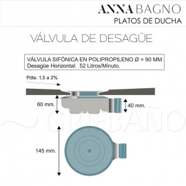 Plato ducha resina ANNA D-40 - Anna Bagno