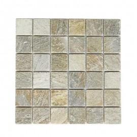 Malla Mosaico Piedra Natural MOS-003 IRIS 5x5 - Tercocer