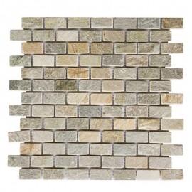 Malla Mosaico Piedra Natural MOS-004 IRIS 2x4 - Tercocer