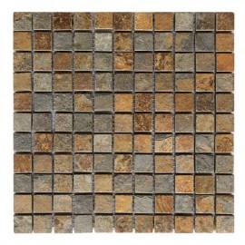 Malla Mosaico Piedra Natural MOS-007 MULTICOLOR 2,5x2,5 - Tercocer