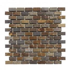 Malla Mosaico Piedra Natural MOS-009 MULTICOLOR 2x4 - Tercocer