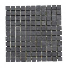 Malla Mosaico Piedra Natural MOS-011 NEGRO 2,5x2,5 - Tercocer