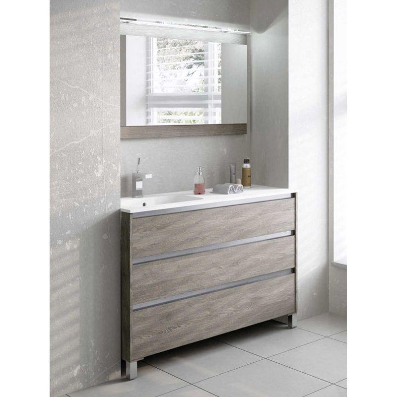 Conjunto mueble ba o carmen 3c u ero aluminio avila dos - Muebles de bano de aluminio ...