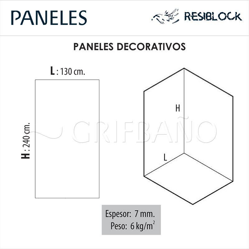 Paneles decorativos de resina resiblock for Paneles revestimiento ducha
