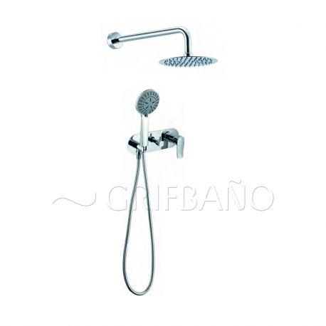Monomando ducha emp. c/inv. y soporte ITALIA cromo - GPI013