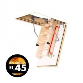 Escalera escamoteable de tramos de madera LWF 45 - Fakro