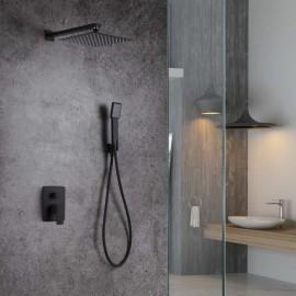 Monomando ducha emp. c/inv. DUBLIN negro mate - GPE006/NG