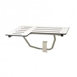 Asiento reversible, abatible con apoyo pared para ducha - AM0500