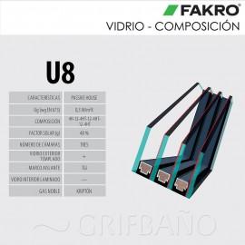 Ventana para tejado giratoria FAKRO Mod. FTT U8 THERMO
