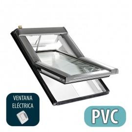 Ventana para tejado pivotante eléctrica ROTO Serie Designo R4 Mod. R45RotoTronic PVC