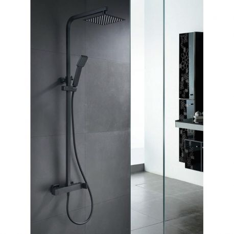 Conjunto ducha FIYI negro mate - Imex - BDF016NG