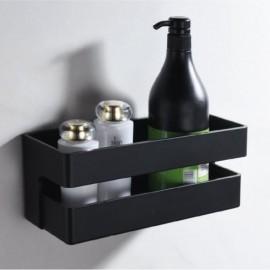 Jabonera rectangular negro mate - Imex - ANG005