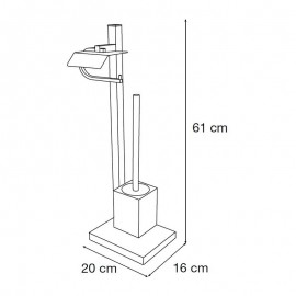 Portaescobillero metálico suelo ARIES - Mediterránea del Baño - 40246