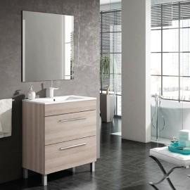 Mueble baño con patas NOA 2C con lavabo FLAT - Visobath