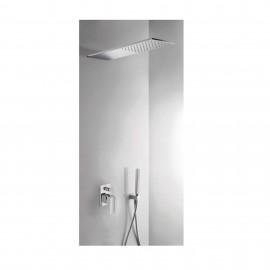 Kit monomando ducha emp. 2-vías CUADRO-TRES ducha INOX cromo - 00618003