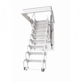 Escalera escamoteable de tijera metálica LX-LACADA