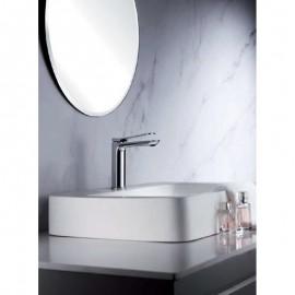 Grifo lavabo monomando ca/ño alto color Blanco Imex Dinamarca BDR031-3BL