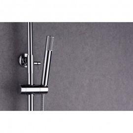 cromado Columna de ducha extensible de acero inox CONJUNTO BARRA DE DUCHA SERIE MILOS BDY027