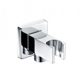 Soporte ducha c/toma IMEX cuadrado cromo - SFR001