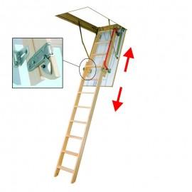 Escalera escamoteable deslizante de madera LDK - Fakro