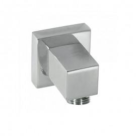 Codo ducha c/toma TRES cuadrado cromo - 00618301