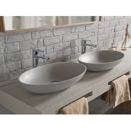 Lavabo resina sobre encimera Acquabella ON-TOP OVAL