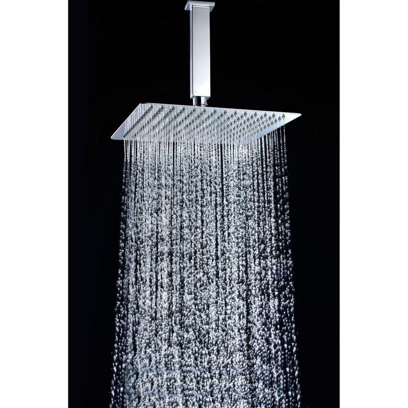 Rociador ducha imex cuadrado 30x30 cm cromo rdc003 imex for Rociadores ducha empotrados techo