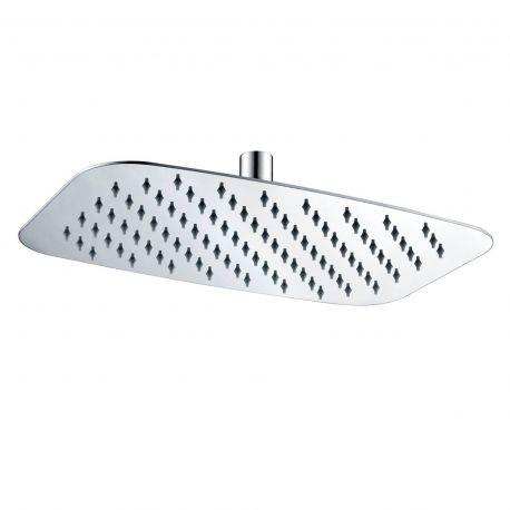 Rociador ducha IMEX ovalado 20x30 cm. cromo - RDR001